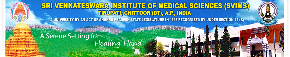 MD Admissions 2015@ Sri Venkateswara Institute of Medical Sciences Tirupati