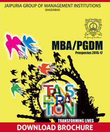MBA & PGDM Admission 2015-17 @ Jaipuria Institute of Management (JIM), Ghaziabad