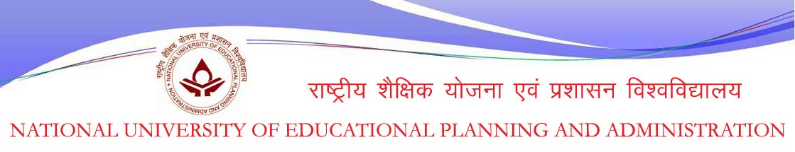 MPhil PhD Admission 2015-16 @ National University of Educational Planning and Administration (NUEPA), New Delhi