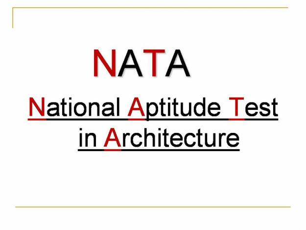 NATA 2015 (National Aptitude Test in Architecture) Notification and Exam Date