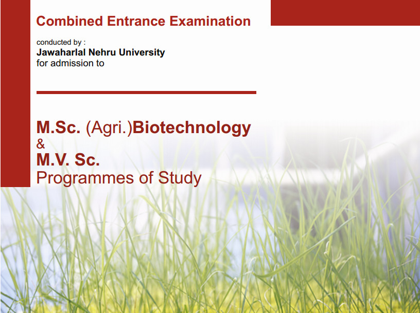 Jawaharlal Nehru University (JNU) notifies M.Sc.(Agri.) Biotechnology & MVSc Programmes of Study Admission 2015