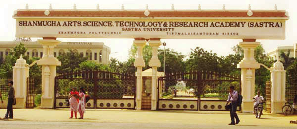 Sastra University,Thanjavur announces BTech and Integrated MTech Admission 2015