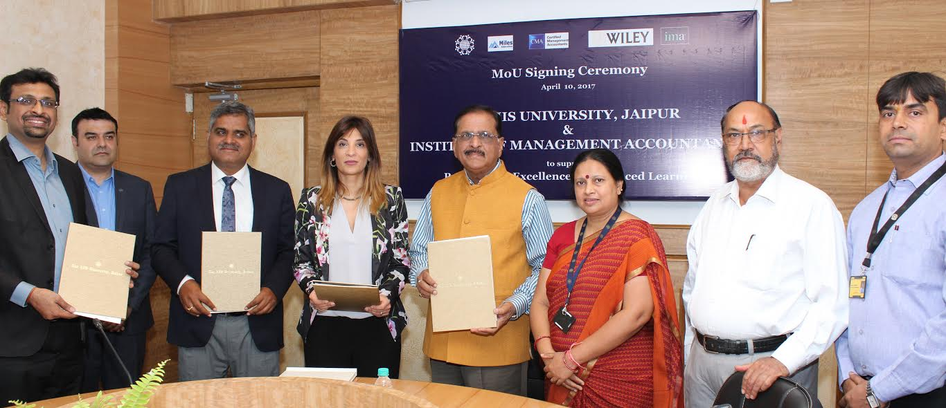 The IIS University and IMA and Wiley India signed MoU