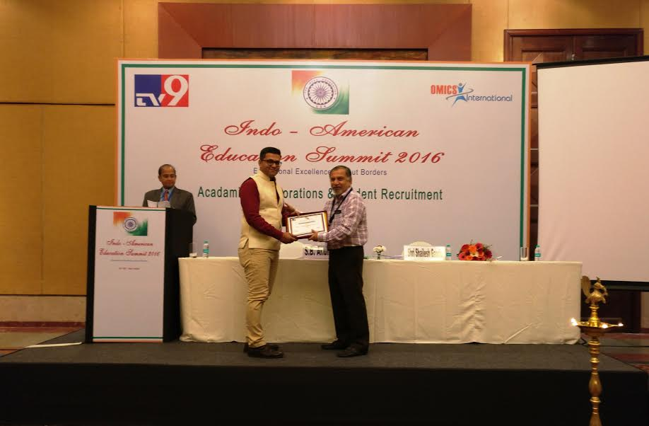 "CEDP Skill Institute Wins the Prestigious Award for ""Eminent Educationists & Educational Excellence ""at Indo-American Education Summit 2016"
